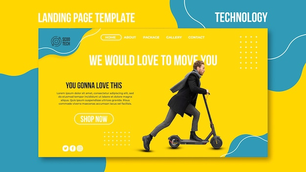 Scooter promo landing page