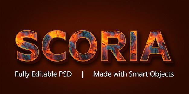 Scoria-textstil-effekt