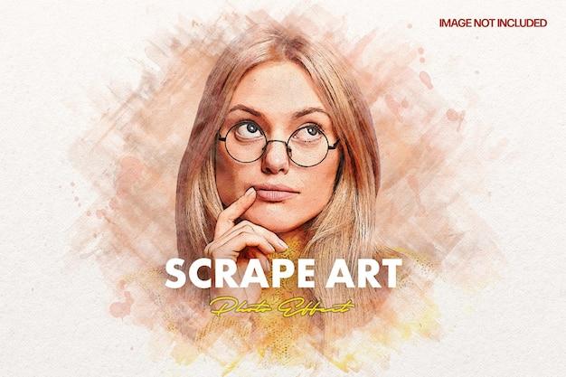 Scrap-kunst-fotoeffekt
