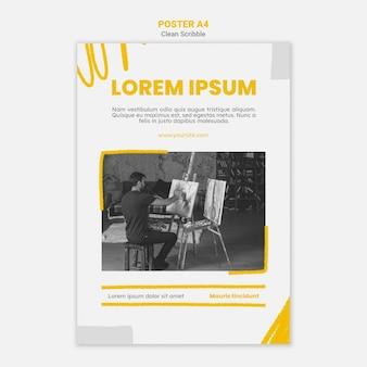 Scribble poster a4 mit foto reinigen