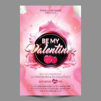 Seien sie meine valentinsgrüße flyer vorlage