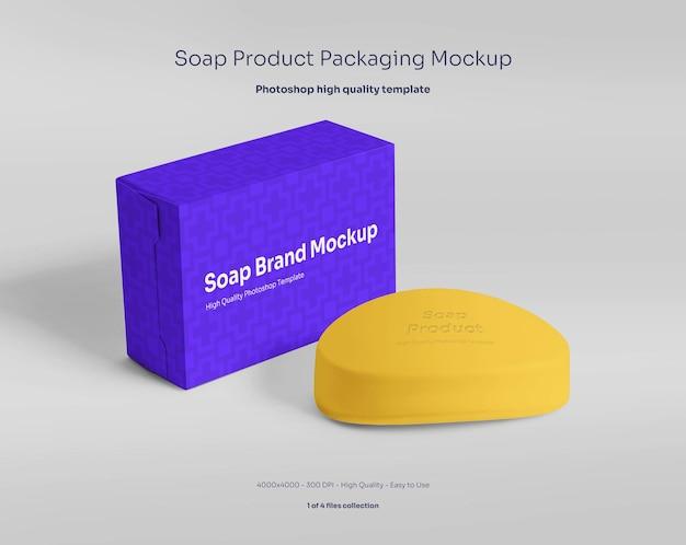 Seifenstück und verpackungsmodell