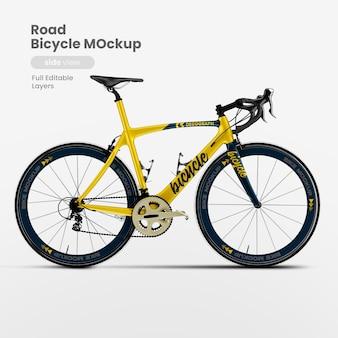 Seitenansicht des fahrradmodells