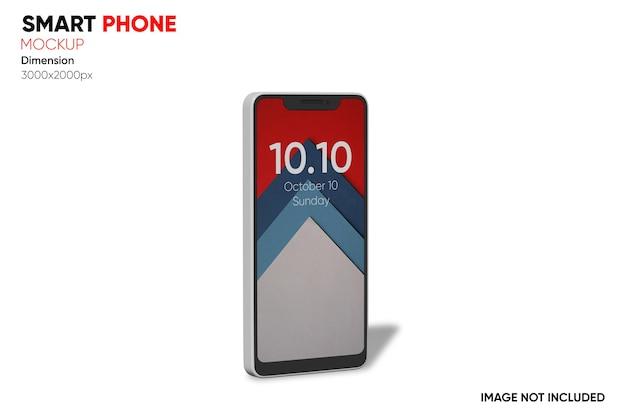 Seitenansicht smartphone-modell
