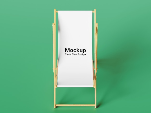 Seitenansicht stuhl modell auf grünem hintergrund