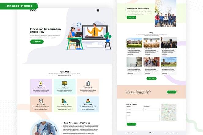 Seitengestaltung der bildungswebsite