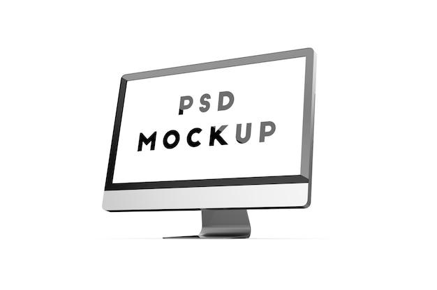 Seitliches pc-monitor-modell