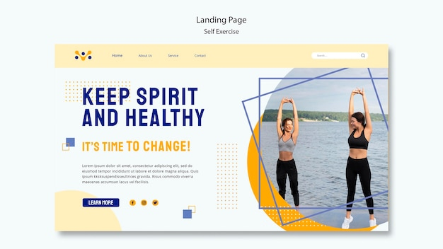 Selbstübungs-landingpage