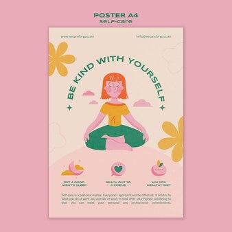 Self-care-poster-vorlage