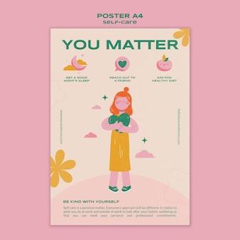 Self healthcare poster vorlage
