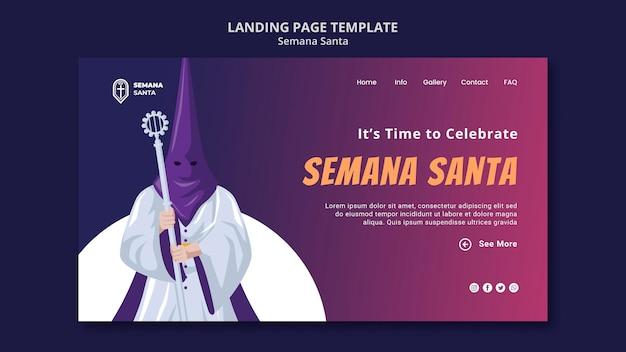 Semana santa landing page vorlage illustriert