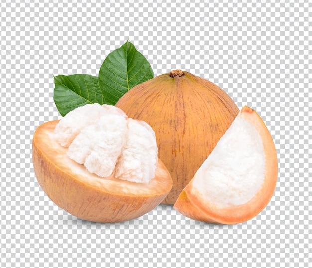 Sentolfrucht mit isolierten blättern premium psd ps