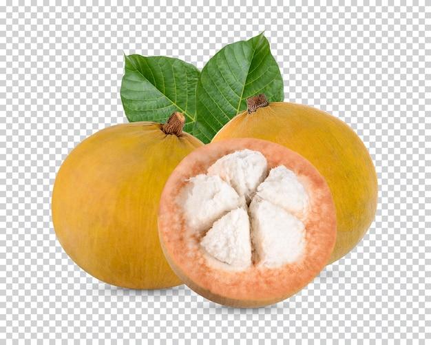 Sentolfrucht mit isolierten blättern