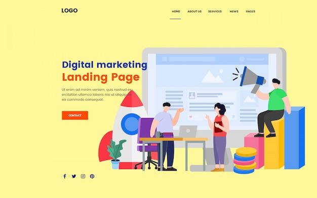 Seo digital marketing landing page