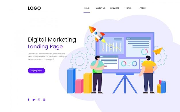 Seo digital marketing website vorlage