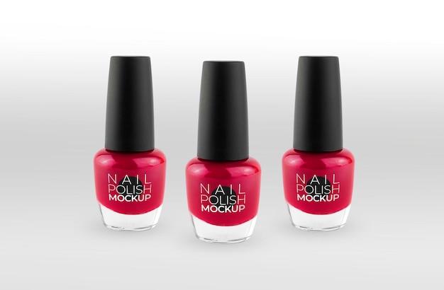 Set aus rotem nagellackmodell
