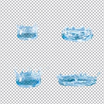 Set von vier wasserspritzer