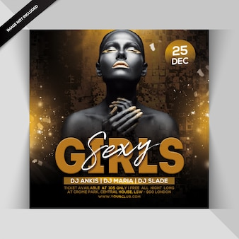 Sexy girls party flyer
