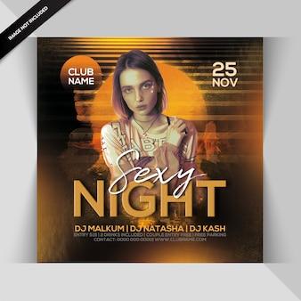 Sexy nachtparty-flyer