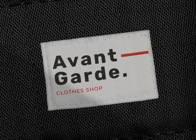 Shirt-label-mockup psd, für mode-branding