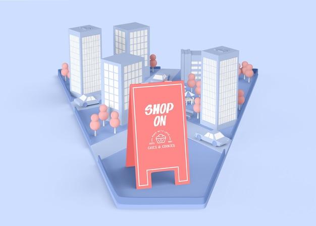 Shop auf außenwerbung