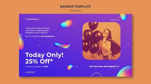 Shopping ad banner vorlage