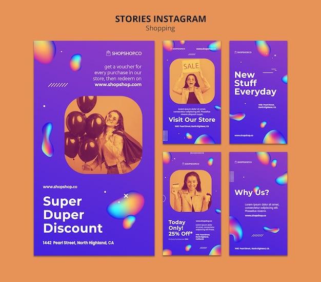 Shopping ad instagram geschichten vorlage