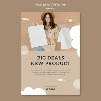 Shopping big deals poster vorlage