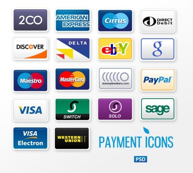 Shopping kreditkarten vorlagen psd