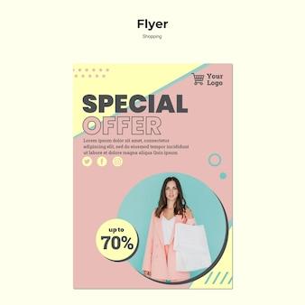 Shopping sonderverkauf flyer vorlage