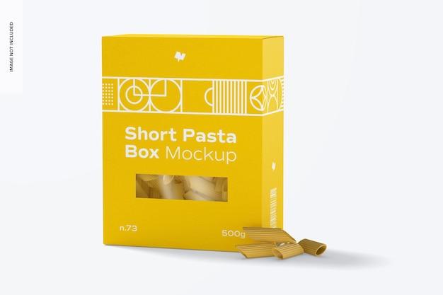 Short pasta box mockup