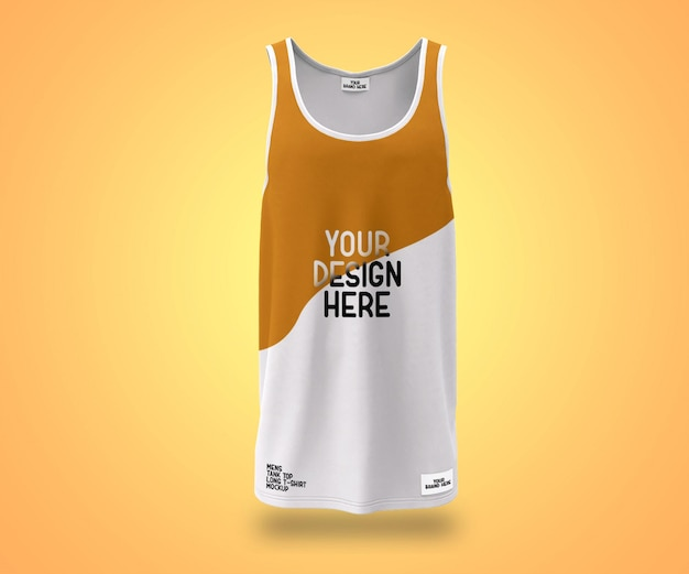 Showcase herren tank top langes t-shirt mockup