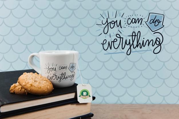 Sie können alles zitat mit einer tasse tee tun
