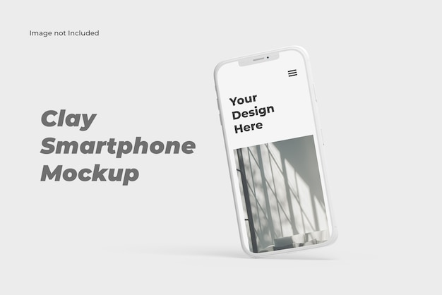 Sigle clay smartphone-präsentationsmodell