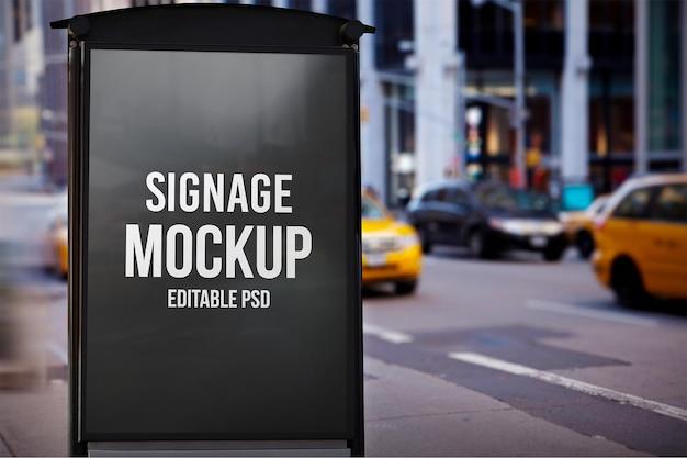 Signage photoshop-modell