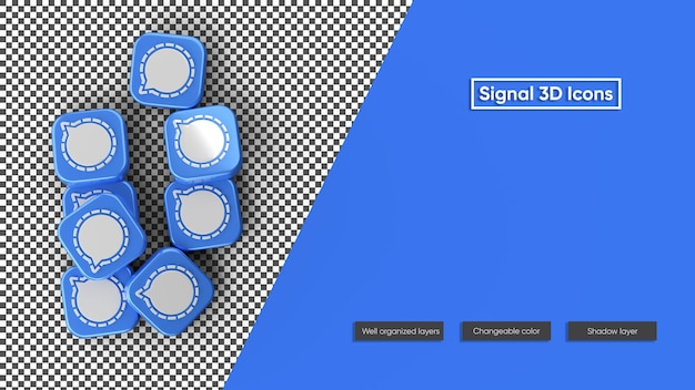 Signal icon 3d icon rendering isoliert