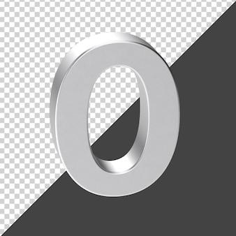 Silber nummer 0 3d-rendering
