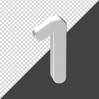 Silber nummer 1 3d-rendering