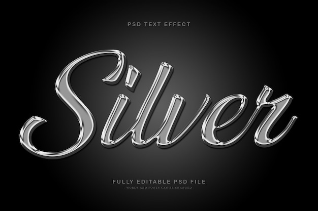 Silber text effekt