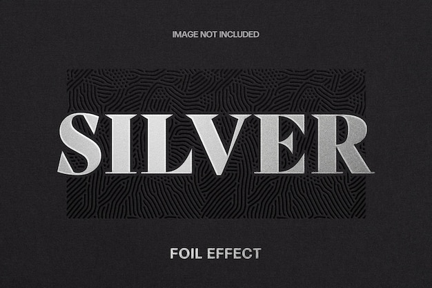 Silberfolien-texteffektschablone