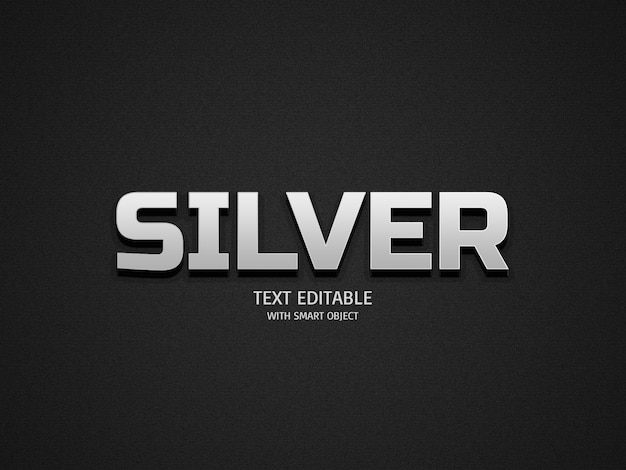 Silberne texteffekte
