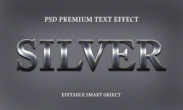 Silberne texteffektporträt der schönen frau