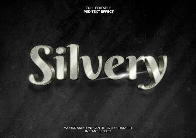 Silberner 3d-texteffekt
