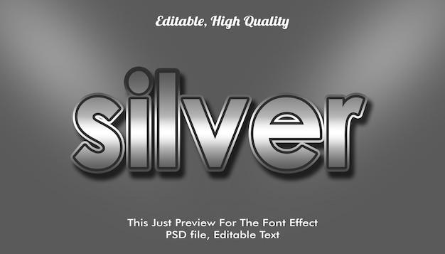 Silberner, modern gestalteter trendiger 3d-schrifteffekt