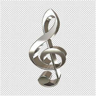 Silberner musikschlüssel