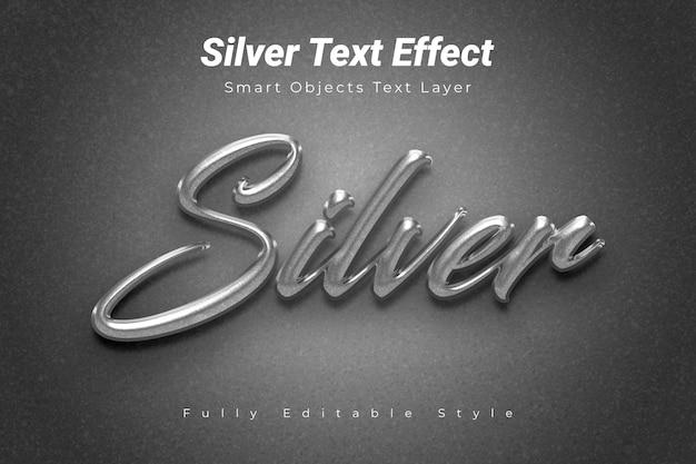 Silberner text-effekt