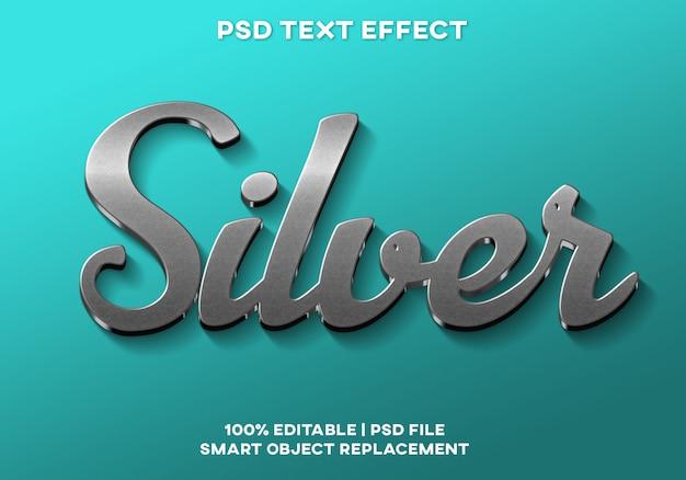 Silberner texteffekt