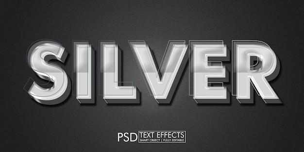 Silbernes texteffekt-design