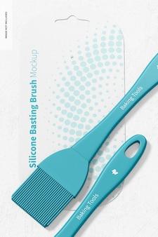 Silikon basting brushes mockup, nahaufnahme