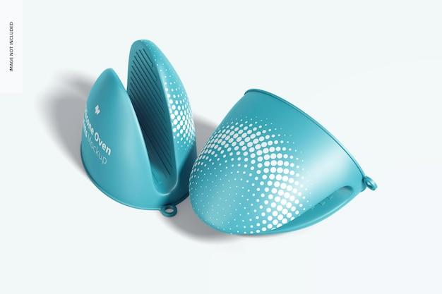 Silikonofenhandschuhe modell, stehend und fallen gelassen